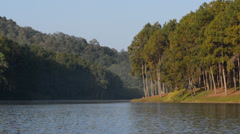 Pang Ung reservoir lake Stock Footage