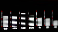 Stock Video Footage of Audio spectrum analyzer