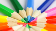 Stock Video Footage of colored pencils