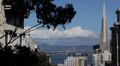 San Francisco Skyline Transamerica Pyramid Oakland Bay Bridge Panoramic View USA Footage