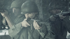 WWII Slow Motion Battlefield Stock Footage