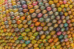 multicolored easter eggs of the kiev pechersk lavra - stock photo