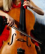 Cello musician Stock Photos