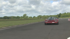 Zonda and Ferrari Stock Footage