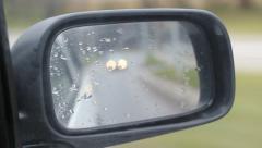 Car Side Mirror Chasing Car Stock Footage