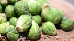 Loopable brussel sprouts Stock Footage