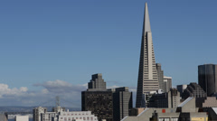 Spectacular Cityscape San Francisco Sunny Day Transamerica Pyramid Daylight USA Stock Footage