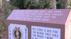 War Memorial, Capitol Park, Purple Heart Stock Footage