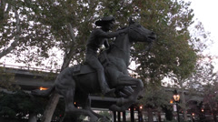 Pony Express Monument, - stock footage