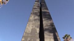 War Memorial, Capitol Park ,WWII Stock Footage