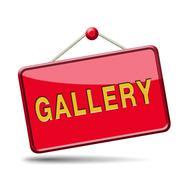 gallery - stock illustration