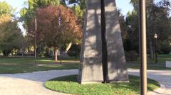 War Memorial, Capitol Park,WWII Stock Footage