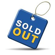 sold out icon - stock illustration