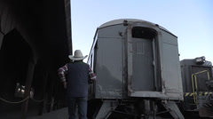 Old Sacramento trains, Cowboy Stock Footage