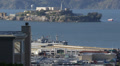 Famous Alcatraz Island San Francisco Bay Former Prison Ruins Tour Boat Ship Trip Footage
