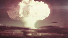 Breathtaking view of a detonating atom bomb - stock footage