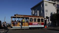 San Fran Tram Trip in a Cable Car Hyde Lombard Street Coit Tower Telegraph Hill Stock Footage