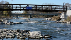 Fox River Yorkville, IL Kendall County 111013 Stock Footage