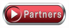 partners button - stock illustration