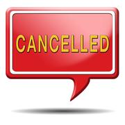 cancelled - stock illustration