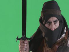 Medieval Warrior Stock Footage