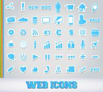 Icons Set for Web Applications Stock Illustration