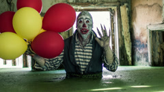 Creepy Clown - stock footage