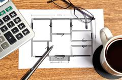 Plan apartament paper Stock Illustration