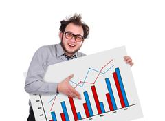 signboard with chart - stock photo