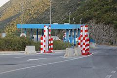 border checkpoint - stock photo