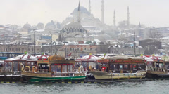 Winter in Istanbul Stock Footage