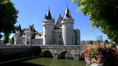 Château de Sully-sur-Loire (1) - Sully sur Loire, France Stock Footage