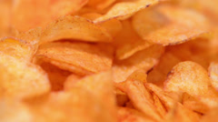 rotating potato chips (loopable) - stock footage