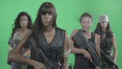Black Ops Girls Stock Footage
