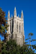 Duke chapel bell tower Stock Photos
