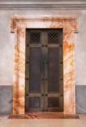 vatican door - stock photo