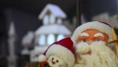 Santa claus & christmas house light - stock video Stock Footage