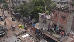 Bangladesh slum scene - stock footage