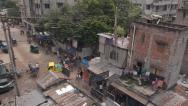Stock Video Footage of Bangladesh slum scene
