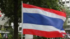 Thailand national  flag Stock Footage