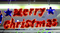 Merry christmass hd text element decoration - stock video, loop Stock Footage