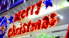 merry christmass hd text element decoration - stock video, loop - stock footage