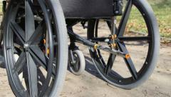 Senior in wheelchair - stock footage