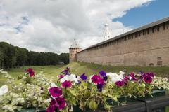 ancient fortress novgorod - stock photo