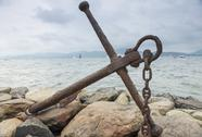 Stock Photo of anchor of saint-tropez