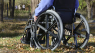 Stock Video Footage of Disabled senior person in wheelchair