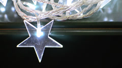 Glowing christmas star ornaments - stock video Stock Footage