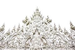 details of wat rong khun (the white temple) in chiang rai, thailand - stock photo