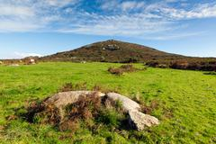 Cornwall country scene at Zennor near St Ives - stock photo