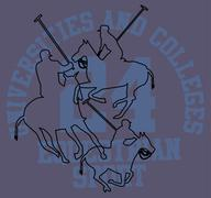 College polo player vector art Stock Illustration